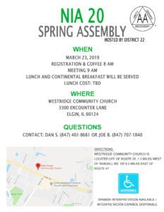 Area 20 Spring Assembly @ West Ridge Community Church