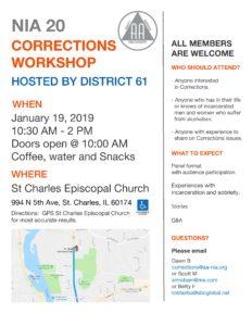 NIA 20 Corrections Workshop @ St Charles Episcopal Church