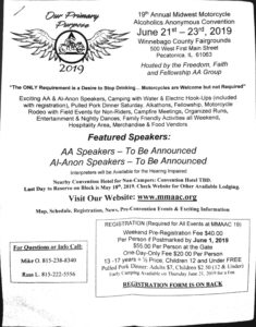 19th Annual Motorcycle AA Convention @ Winnebago County Foregrounds