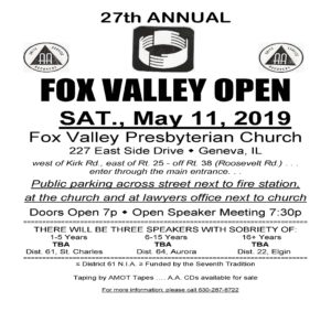 Fox Valley Open @ Fox Valley Presbyterian Church