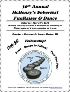 30th Annual McHenry's Soberfest FunRaiser & Dance @ McHenry Township Hall