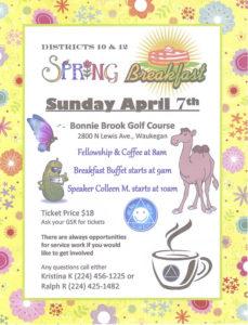 Spring Breakfast @ Bonnie Brook Golf Course