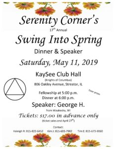 Serenity Corner's Swing Into Spring @ KaySee Club Hall