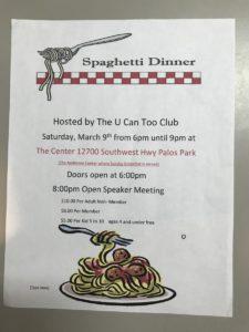 Spaghetti Dinner @ The Center