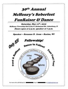 30th Annual McHenry's Soberfest Fund Raiser & Dance @ McHenry Township Hall
