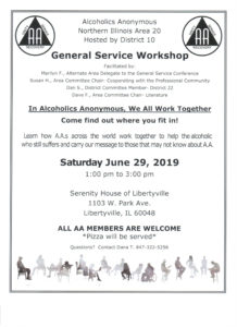 In A A, We All Work Together  General Service Workshop @ Serenity House of Libertyville