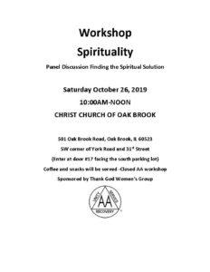 Spirituality Workshop @ CHRIST CHURCH OF OAK BROOK