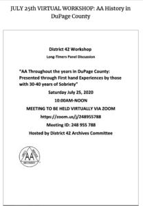 District 42 Oldtimers Workshop
