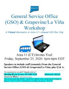General Service Office (GSO) & Grapevine/La Viña Workshop